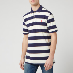 Joules Men's Filbert Striped Classic Fit Polo Shirt - Navy Cream Stripe