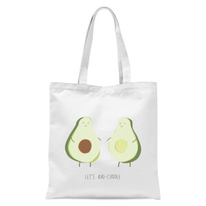 Let's Avo-Cuddle Tote Bag - White