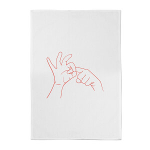 Sexy Hand Gesture Cotton Tea Towel