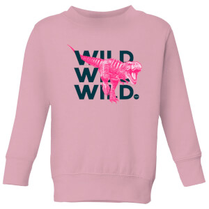 Wild Dinosaur Kids' Sweatshirt - Baby Pink