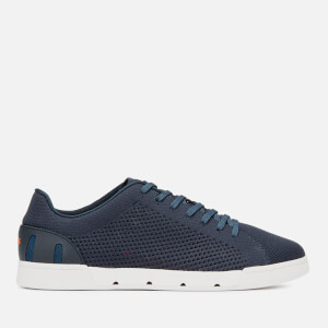Swims Men's Breeze Tennis Knit Trainers - Navy/White