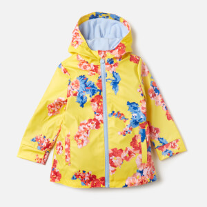 Joules Girl's Raindance Waterproof Coat - Yellow Floral
