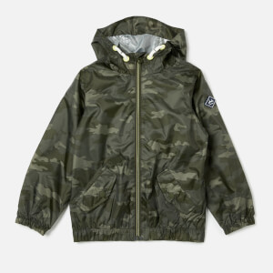 Joules Boys' Rowan Waterproof Jacket - Khaki Camo