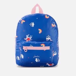 Joules Girl's Adventure Backpack - Blue Unicorn Clouds