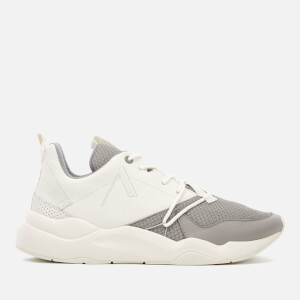 ARKK Copenhagen Men's Asymtrix Mesh Trainers - Off White Ash