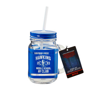 Funko Homeware Stranger Things Hawkins High School Mason Jar - Blue