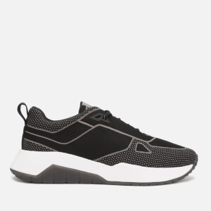 HUGO Men's Atom Mesh/Reflective Running Style Trainers - Black