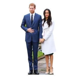 Prince Harry & Meghan Markle Mini Cardboard Cut Out