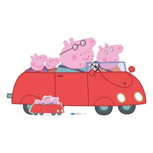 Peppa Pig Family Car Cardboard Cut Out