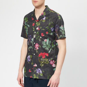Officine Générale Men's Dario Floral Shirt - Black