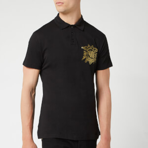 Versace Jeans Men's Logo Polo Shirt - Black