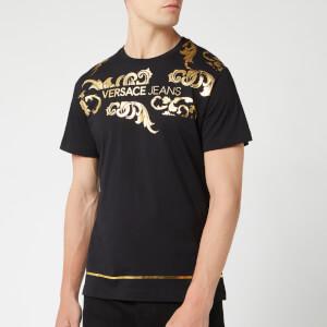 Versace Jeans Men's Collar Print T-Shirt - Black