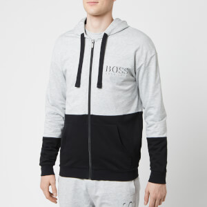 BOSS Hugo Boss Men's Hooded Zip Top - Grey/Black