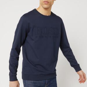 BOSS Hugo Boss Men's Embossed Logo Sweatshirt - Navy