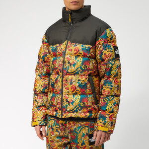 The North Face Men's 1992 Nuptse Jacket - Leopard Yellow Genesis Print