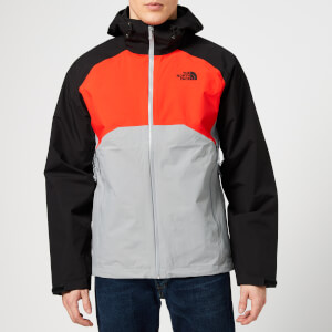 The North Face Men's Stratos Jacket - Mid Grey/Fiery Red