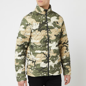 The North Face Men's Thermoball Jacket - Peyote Beige Woodchip Camp Print