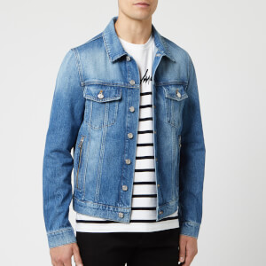 Balmain Men's Signature Denim Jacket - Bleu