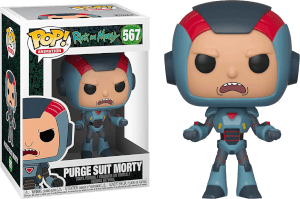 Figurine Pop! Rick & Morty - Morty en Armure de Purge