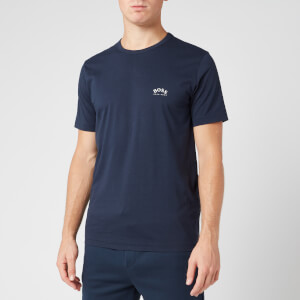 BOSS Men's Curved T-Shirt - Navy