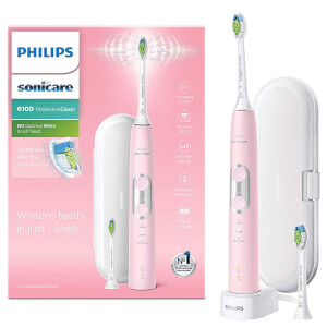 Philips Sonicare ProtectiveClean 6100 Electric Toothbrush with Travel Case - Pink: Image 3
