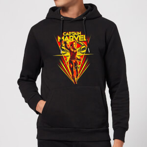 Captain Marvel Freefall Hoodie - Black