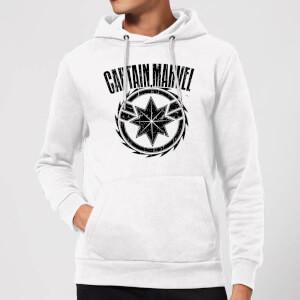 Captain Marvel Logo Hoodie - White