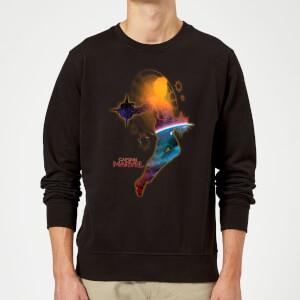 Captain Marvel Nebula Flight Sweatshirt - Black
