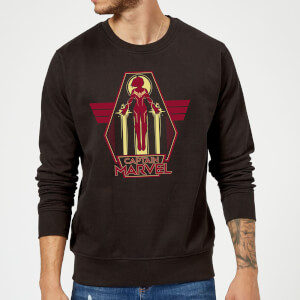 Captain Marvel Flying Warrior Sweatshirt - Black