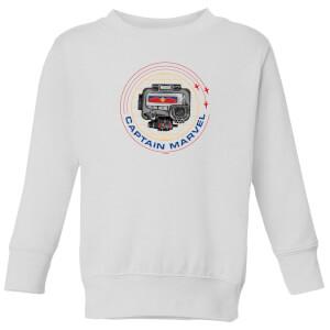 Captain Marvel Pager Kids' Sweatshirt - White
