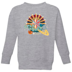 Captain Marvel Star Power Kids' Sweatshirt - Grey