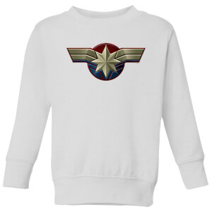 Captain Marvel Chest Emblem Kids' Sweatshirt - White