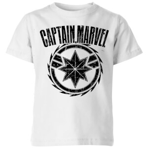 Captain Marvel Logo Kids' T-Shirt - White