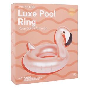 Sunnylife Luxe Flamingo Pool Ring - Rose Gold