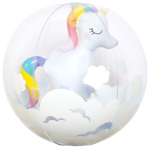Sunnylife Unicorn 3D Inflatable Beach Ball - White