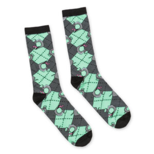 Invader Zim Argyl - Socks - One Size