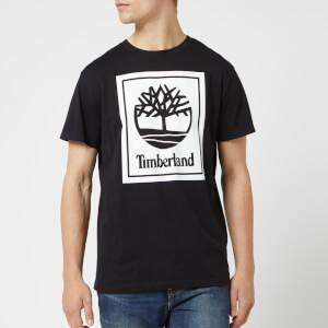 Timberland Men's Stack Logo T-Shirt - Black