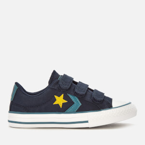30d8426973fd Converse Kids  Star Player 3 Velcro Ox Trainers - Obsidian Celestial Teal