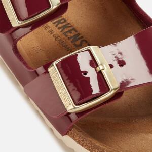 Birkenstock Women's Arizona Patent Slim Fit Double Strap Sandals - Bordeaux: Image 4