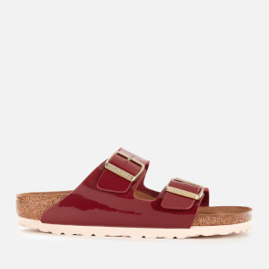 Birkenstock Women's Arizona Patent Slim Fit Double Strap Sandals - Bordeaux