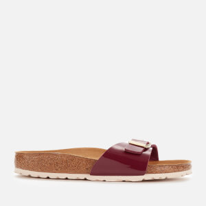 Birkenstock Women's Madrid Patent Slim Fit Single Strap Sandals - Bordeaux