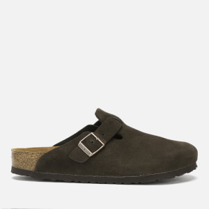 Birkenstock Men's Boston Suede Mules - Mocca