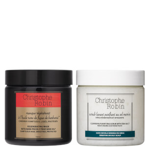 Christophe Robin Regenerating Mask and Cleansing Purifying Scrub 250ml