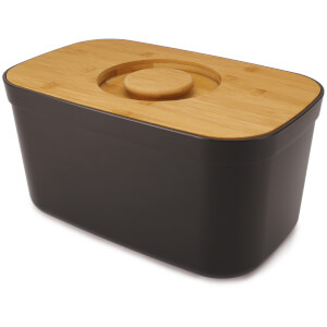 Joseph Joseph Bread Bin with Cutting Board Lid - Black