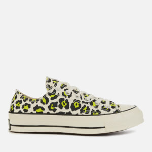 Converse Chuck 70 Ox Trainers - Egret/Black/Bold Lime