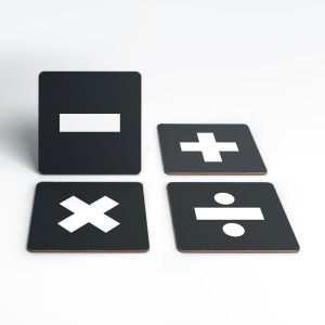 Maths Symbols Coaster Set
