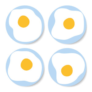 Fried Egg Coaster Set