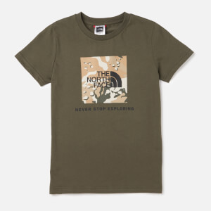 The North Face Kids' Youth Box Short Sleeve T-Shirt - Kelp Tan