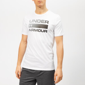 Under Armour Men's Team Issue Wordmark Shorts Sleeve T-Shirt - White/Black