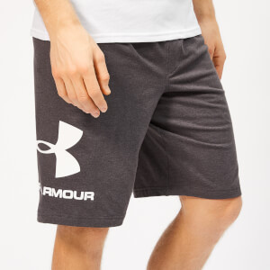 Under Armour Men's Sportstyle Cotton Graphic Shorts - Charcoal Medium Heather